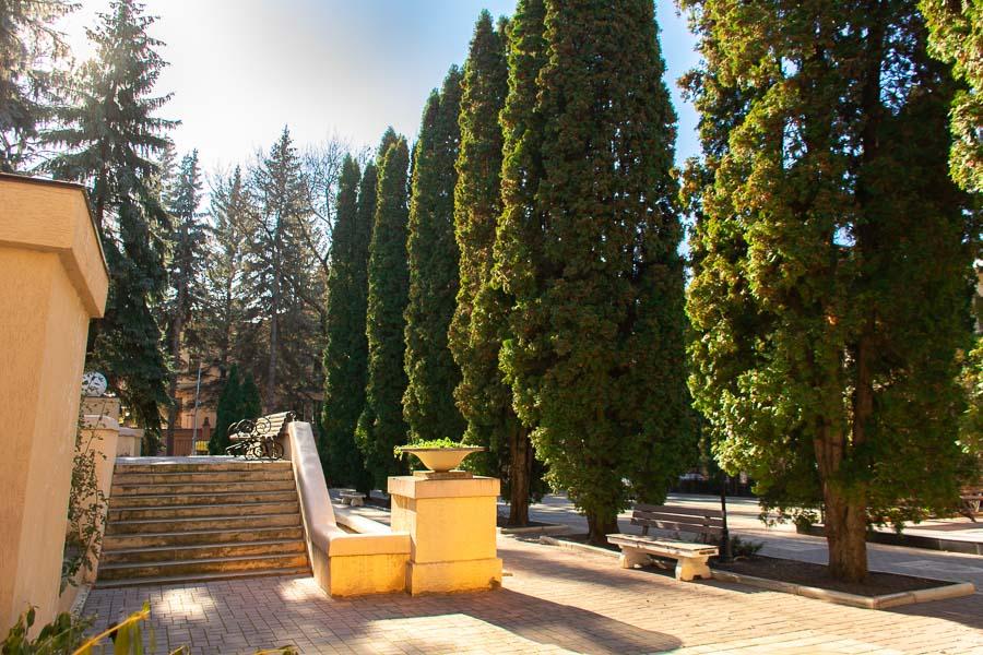 Сквер на территории санатория Радуга